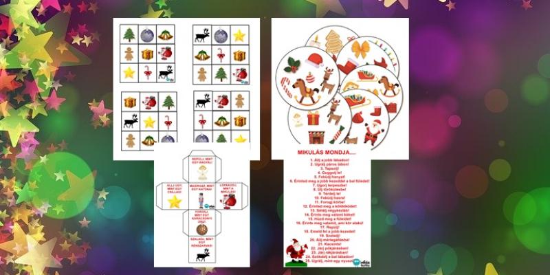15 (online foglalkozáson is játszható) karácsonyi játék