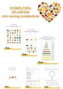 Gyümölcsök, zöldségek - Mini csomag óvodásoknak
