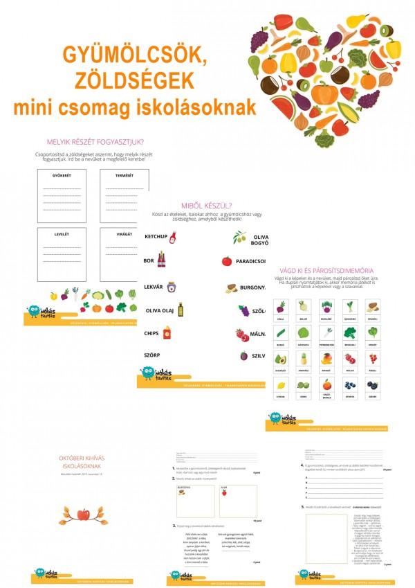 Gyümölcsök, zöldségek - Mini csomag kisiskolásoknak