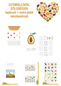 Gyümölcsök, zöldségek - Lapbook csomag kisiskolásoknak