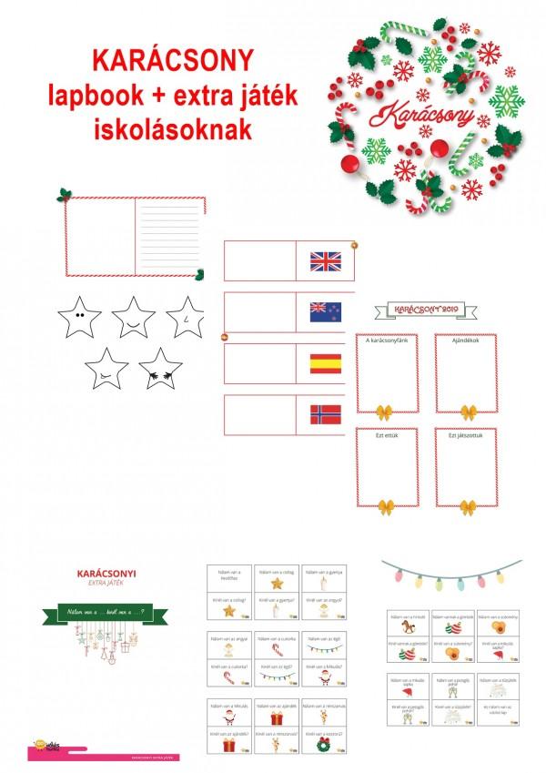 Karácsony - Lapbook csomag kisiskolásoknak