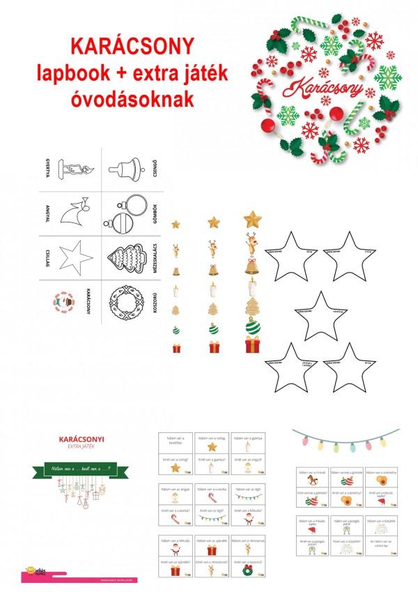 Karácsony - Lapbook csomag óvodásoknak