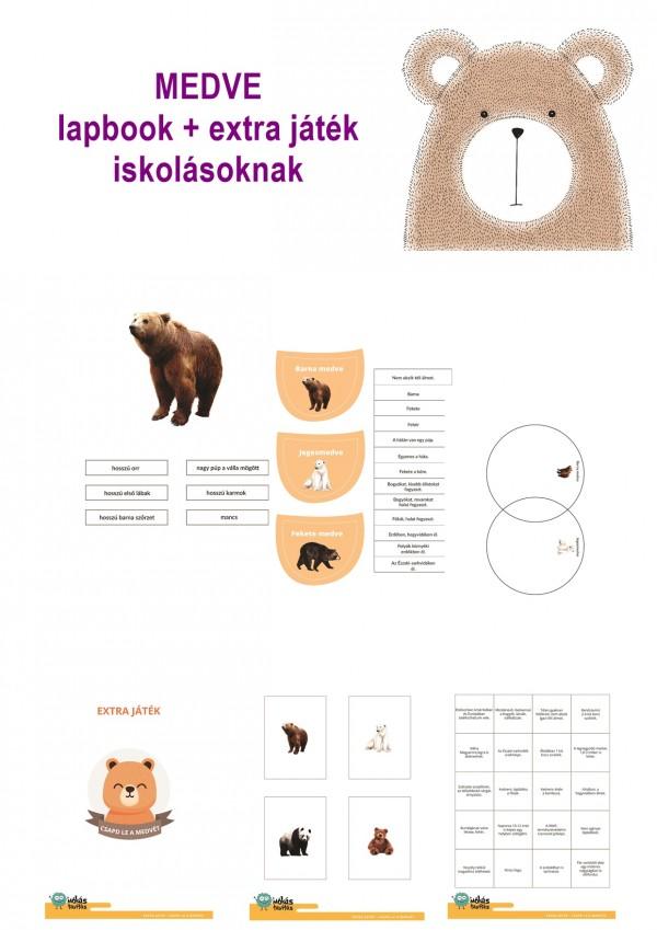 A medve - Lapbook csomag kisiskolásoknak