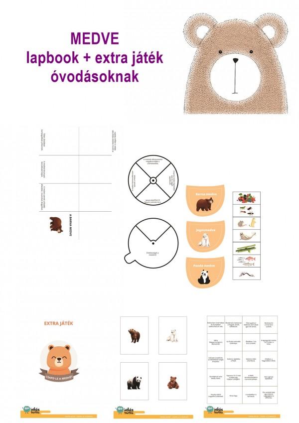 A medve - Lapbook csomag óvodásoknak
