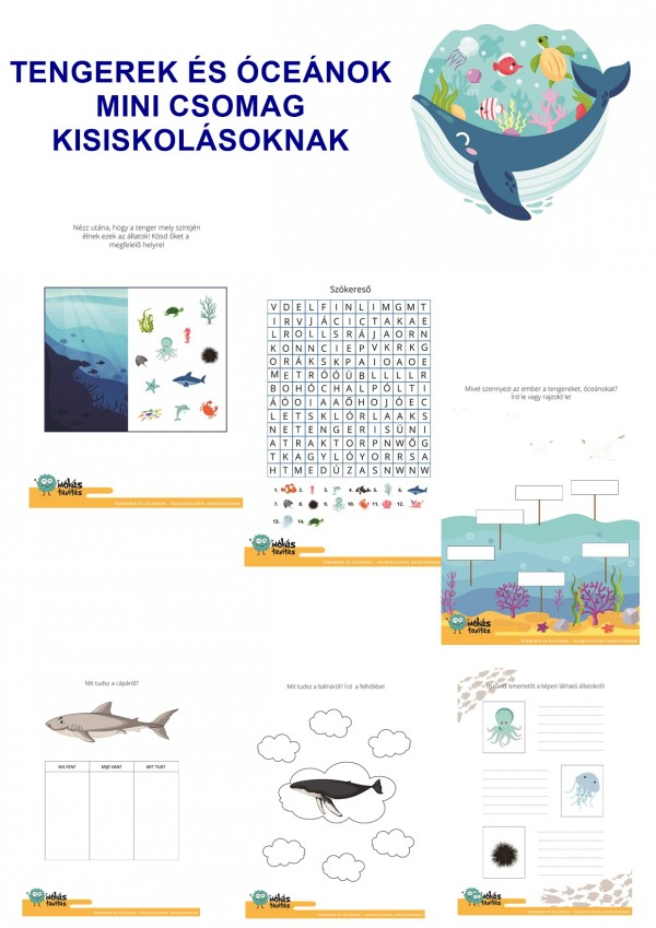 Tengerek és óceánok - Mini csomag kisiskolásoknak