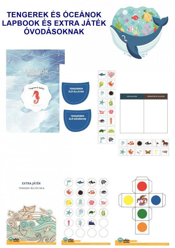 Tengerek és óceánok - Lapbook csomag óvodásoknak