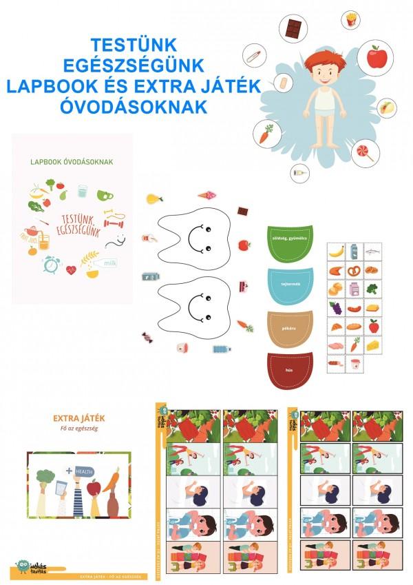Testünk és egészségünk - Lapbook csomag óvodásoknak