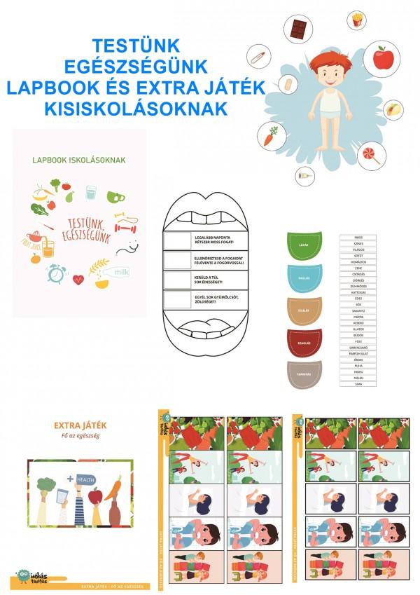 Testünk és egészségünk - Lapbook csomag iskolásoknak