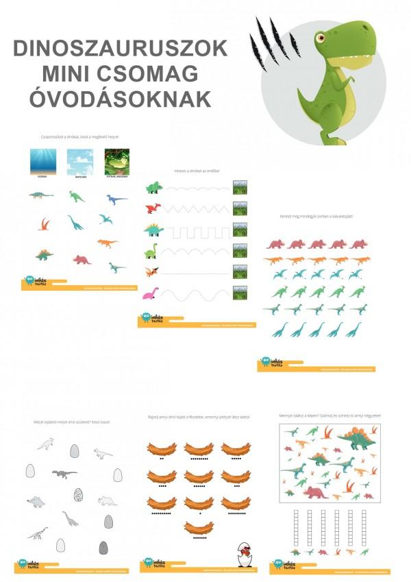 Dinoszauruszok - Mini csomag óvodásoknak