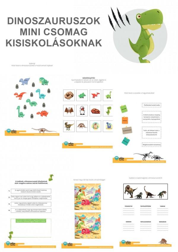 Dinoszauruszok - Mini csomag kisiskolásoknak