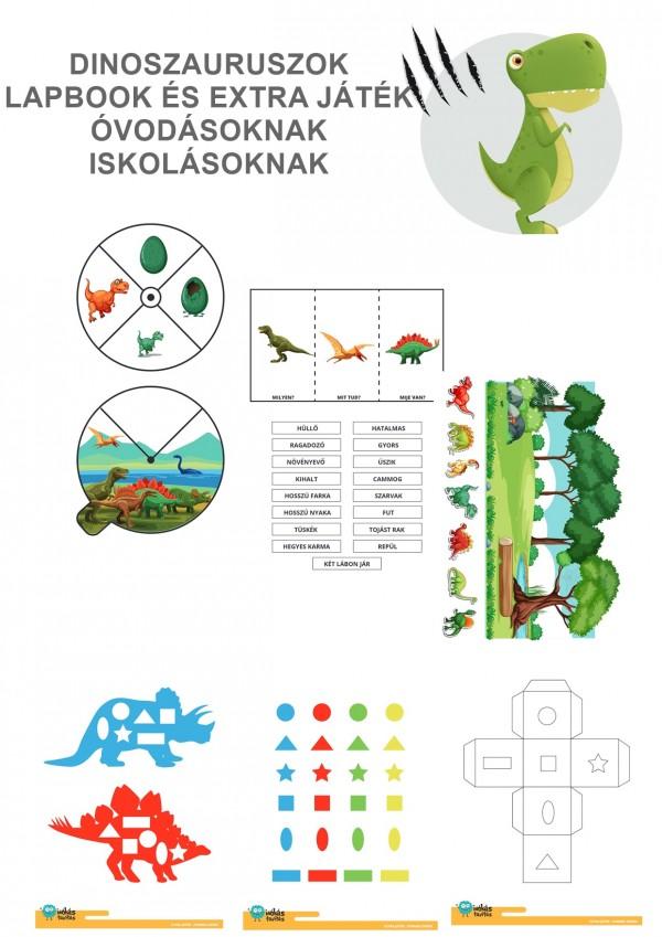 Dinoszauruszok - Lapbook csomag ovisoknak, iskolásoknak