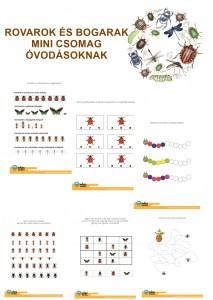 Rovarok, bogarak - Mini csomag óvodásoknak