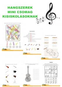 Hangszerek - Mini csomag kisiskolásoknak